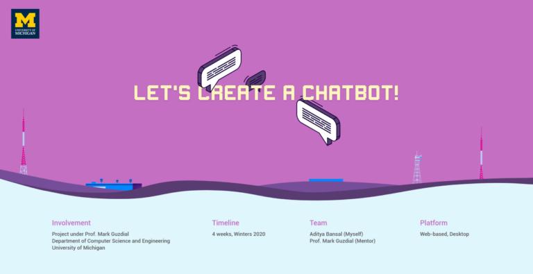 ¡Creemos un chatbot !.  Desarrollando una herramienta que ayudará a los niños