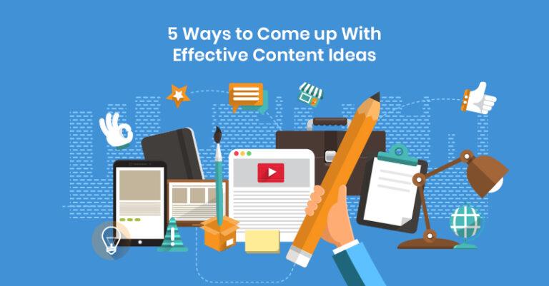 5 formas de generar ideas de contenido eficaces