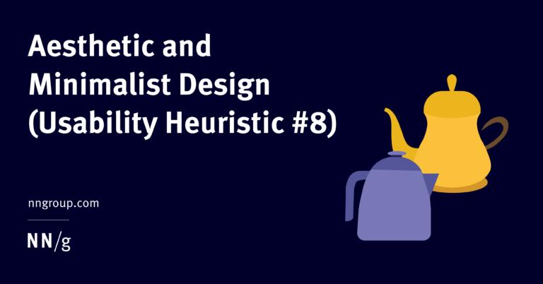 Diseño estético y minimalista (heurística de usabilidad n. ° 8)