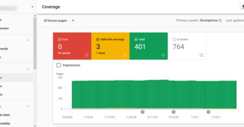 Google actualiza el informe de índice de Search Console