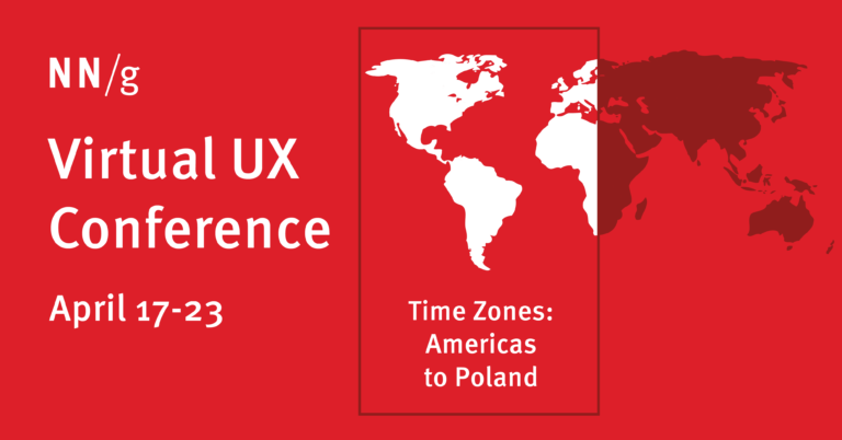 Agenda Virtual UX Conference 2021 de abril