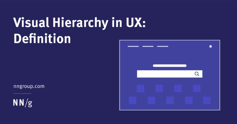 Jerarquía visual en UX: definición
