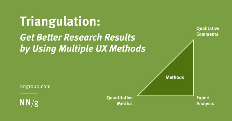 Obtenga mejores resultados de investigación utilizando múltiples técnicas de UX