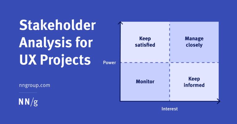 Análisis de partes interesadas para proyectos UX