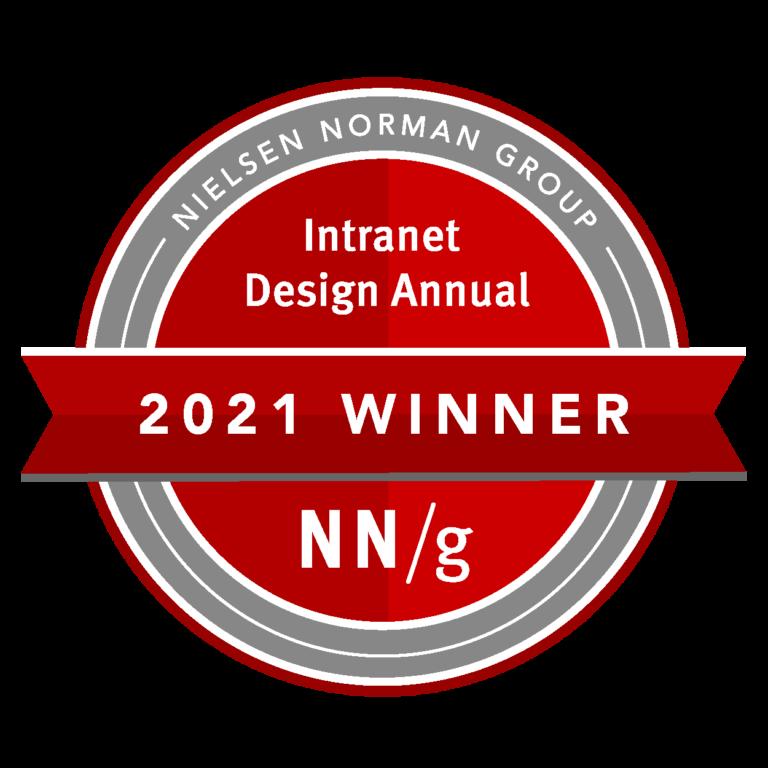 Ganadores anuales del concurso de diseño de intranet 2021