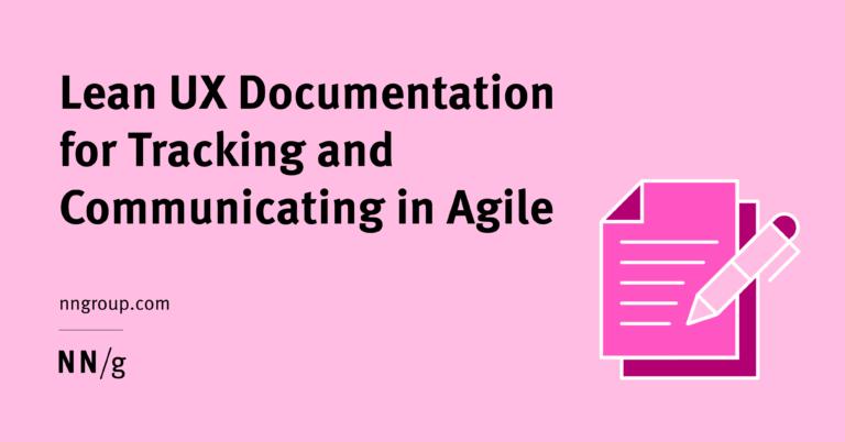 Documentación Lean UX para seguimiento y participación en Agile