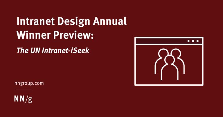 Avance del ganador del concurso anual de diseño de intranet: The UN Intranet-iSeek