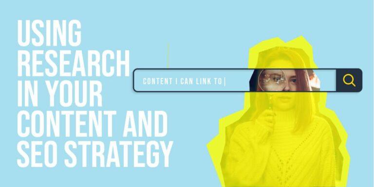 Uso de investigación en contenido SEO y estrategias SEO