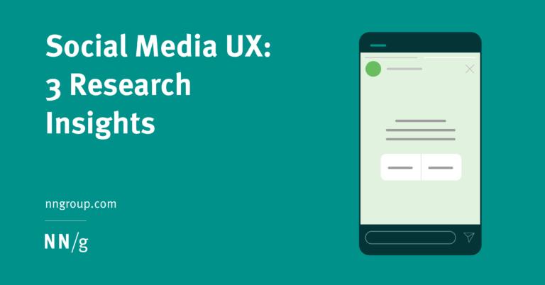UX en redes sociales: 3 conclusiones del estudio