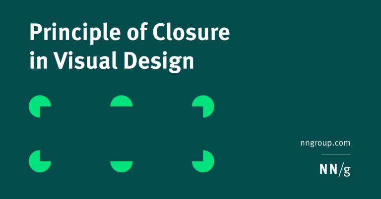 Principio de cierre en diseño visual