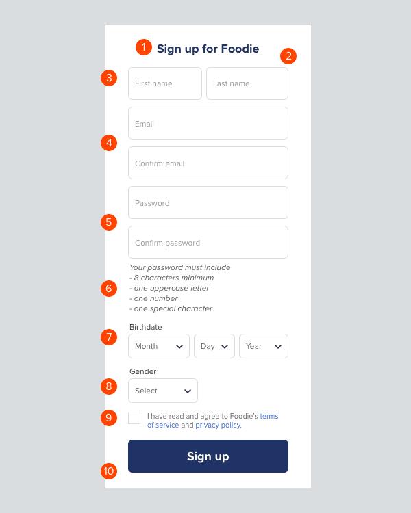 Anatomía de un formulario de registro bueno y malo