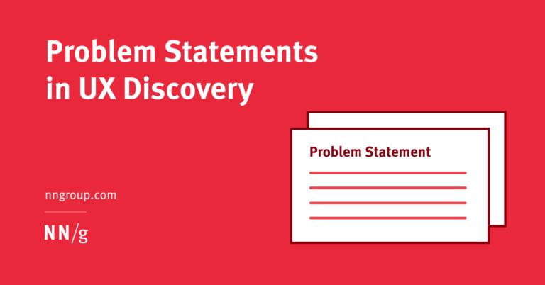 Declaraciones de problemas en UX Discovery