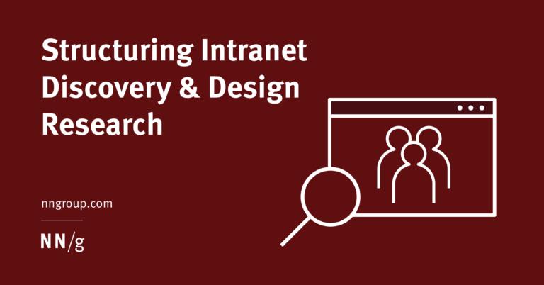 Estructuración de la investigación de diseño y descubrimiento de intranet