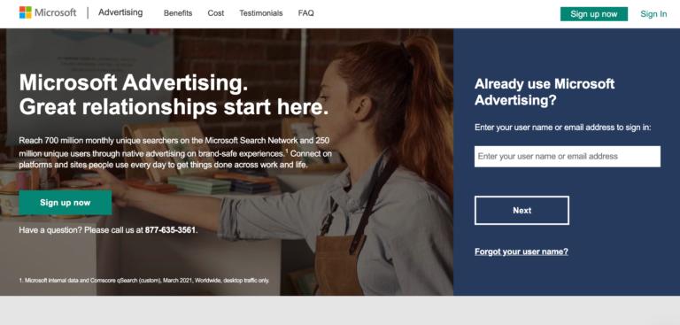 Microsoft Advertising lanza una beta abierta para anuncios de tarjetas de crédito