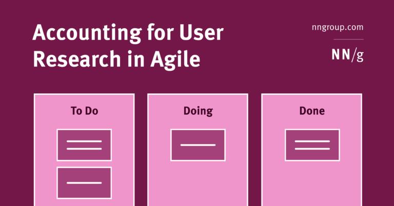 Contabilización de la investigación de usuarios en Agile